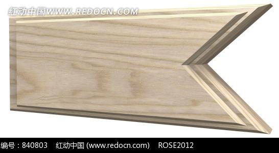 端点呈圆形的弯曲的线条构成的红褐色木纹边框