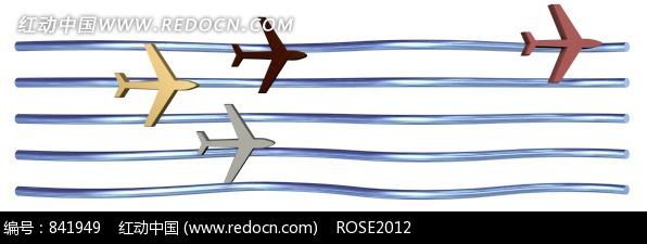 3d效果五线谱上飞过的飞机图片免费下载(编号841949)