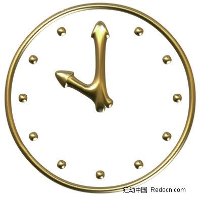 金色的卡通钟表图片