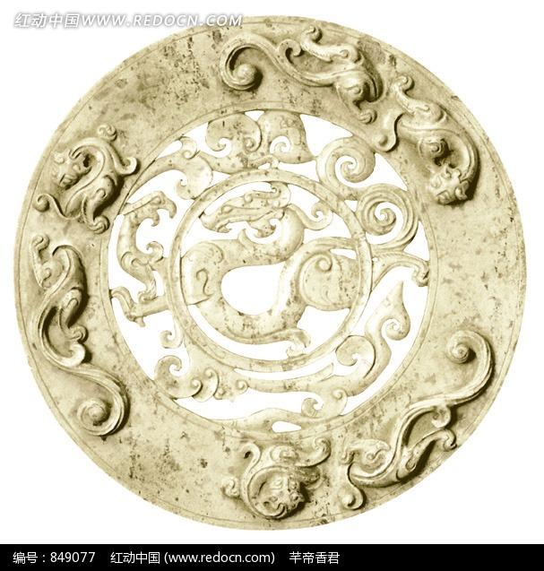 古代龙纹玉璧图片