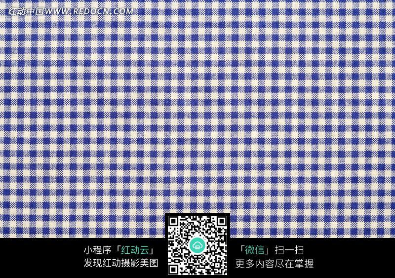 蓝色格子布料图片图片