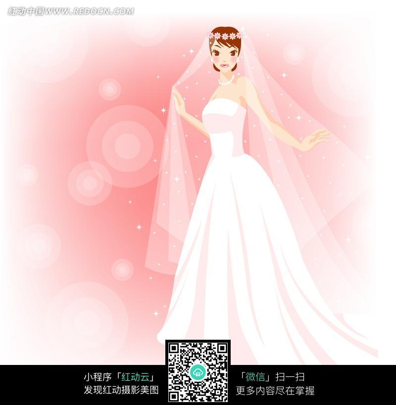 新娘手绘图片唯美图片