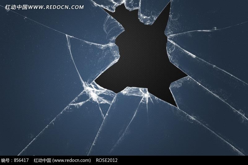 碎玻璃的裂痕