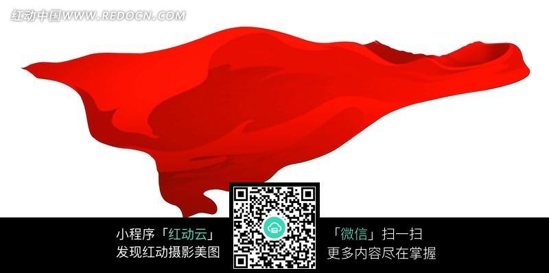 白色背景下飘舞的红绸带图片免费下载 红动网图片