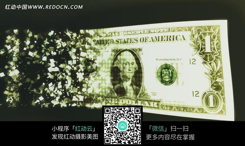 创意美元纸币图片