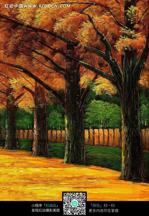 产品宣传背景图_美丽的秋天的树图片免费下载_红动网