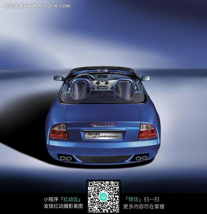 蓝色 玛莎拉蒂 敞篷跑车图片 编号 865447 交通高清图片