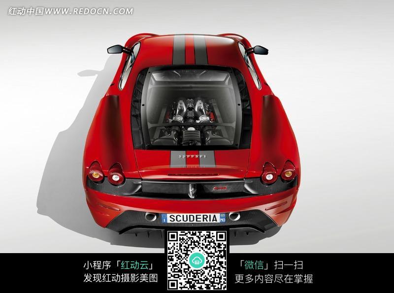写实摄影类红色法拉利跑车海报图片高清图片