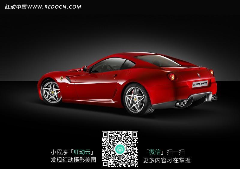法拉利红色跑车宣传海报图片高清图片