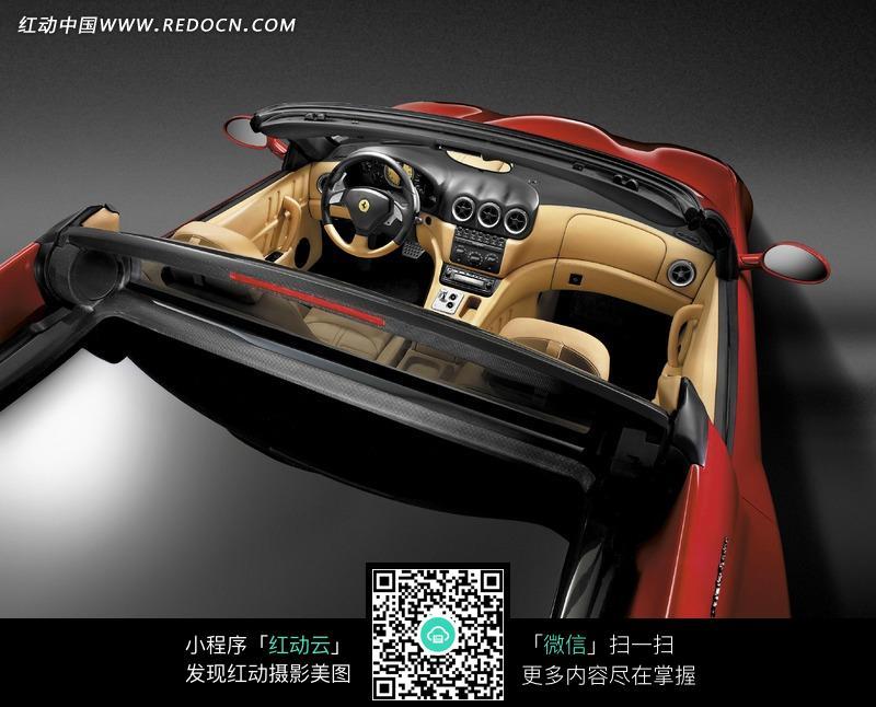 法拉利跑车车内装备宣传海报素材大图图片高清图片
