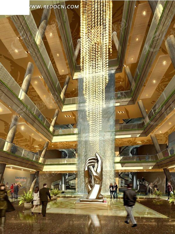 商场室内大堂设计效果图