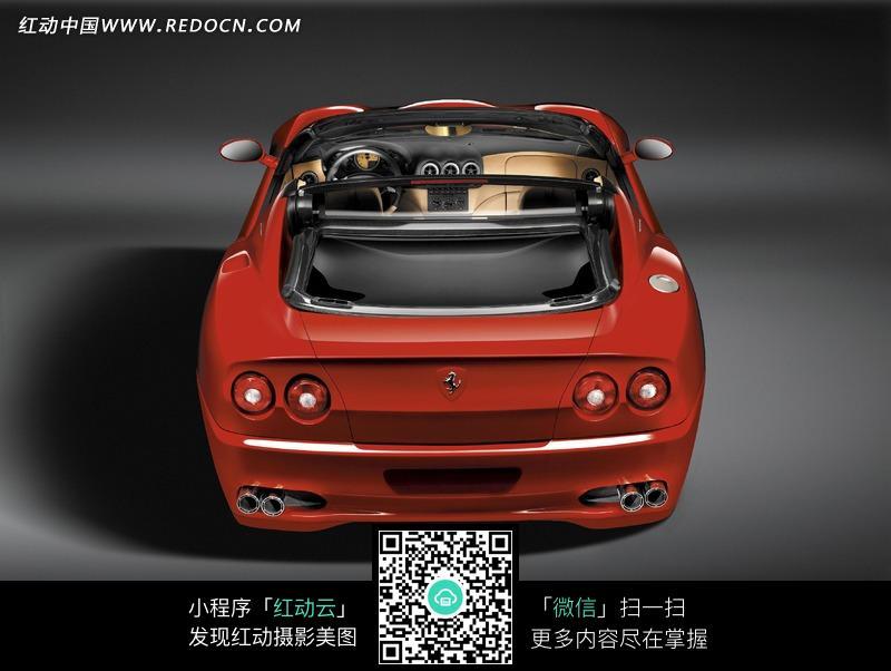 红色法拉利高级跑车图片高清图片