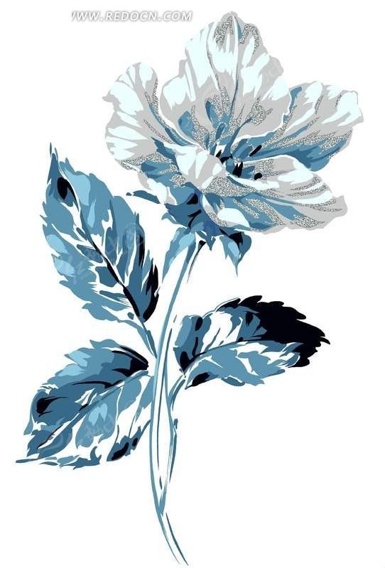 水粉花卉图案
