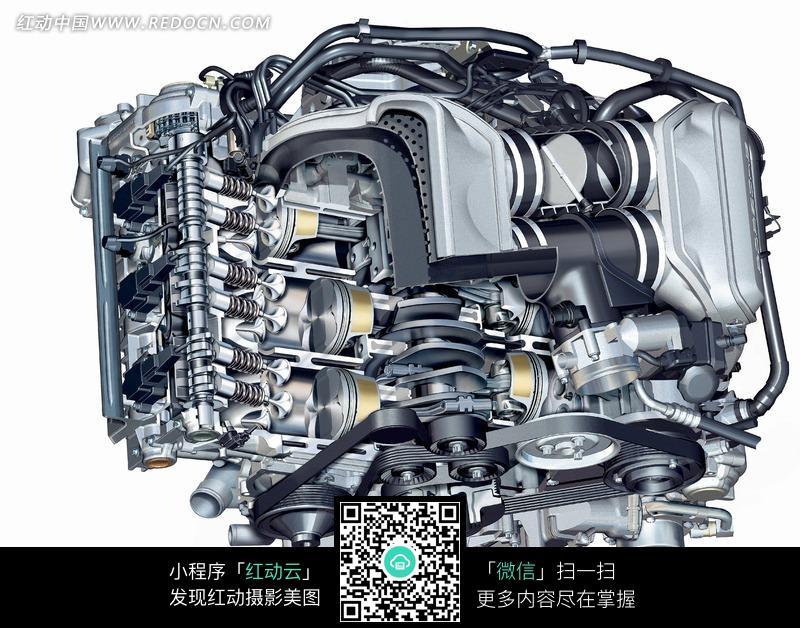 汽车发动机内部结构透视图图片免费下载 编号870497 红动网