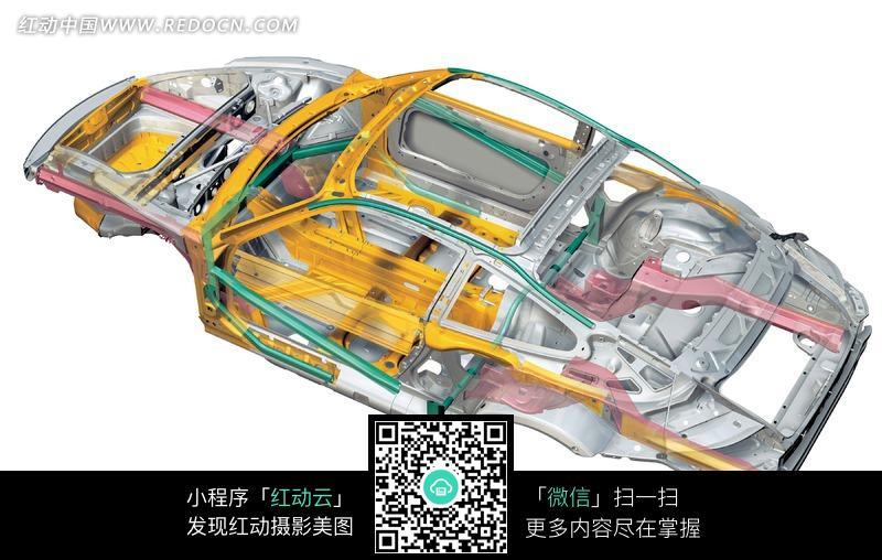 保时捷汽车框架结构透视图图片高清图片
