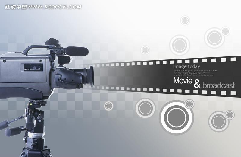 电影主题放映机psd素材图片