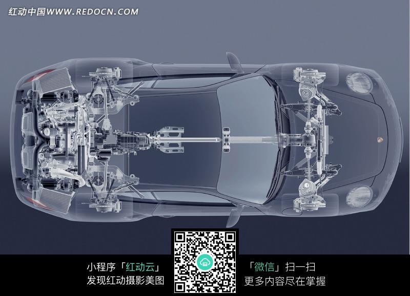 发动机后置驱动俯视透视图图片