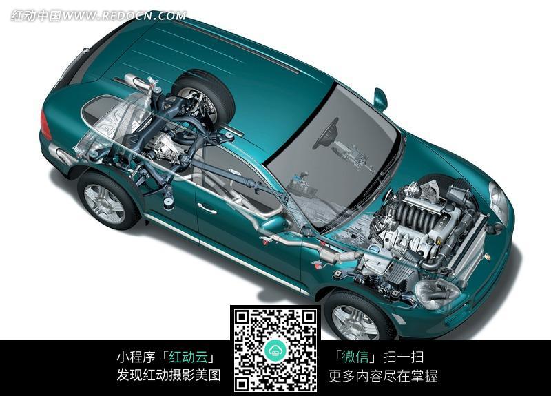 汽车动力系统透视图