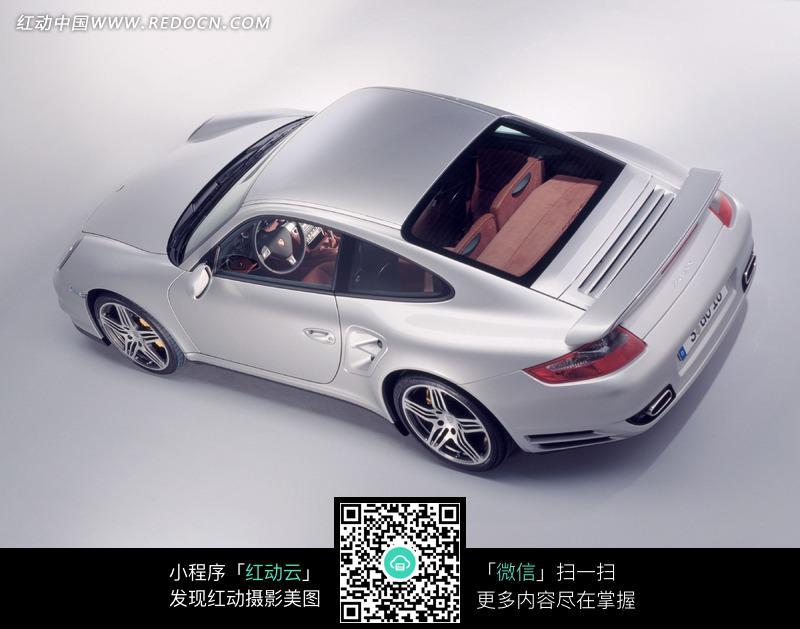 汽车俯视图 手绘