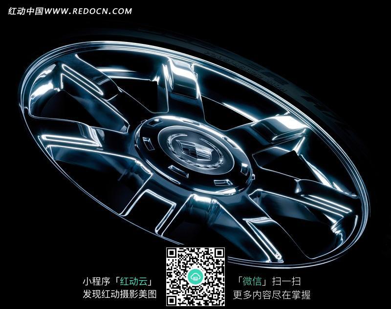 黑色凯迪拉克srx汽车轮胎图片 现代科技图片 图库下载 编号 高清图片