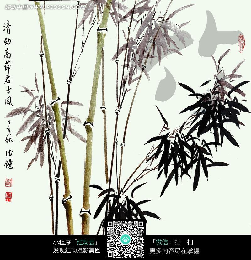 竹子水墨画图片_珠宝服饰图片