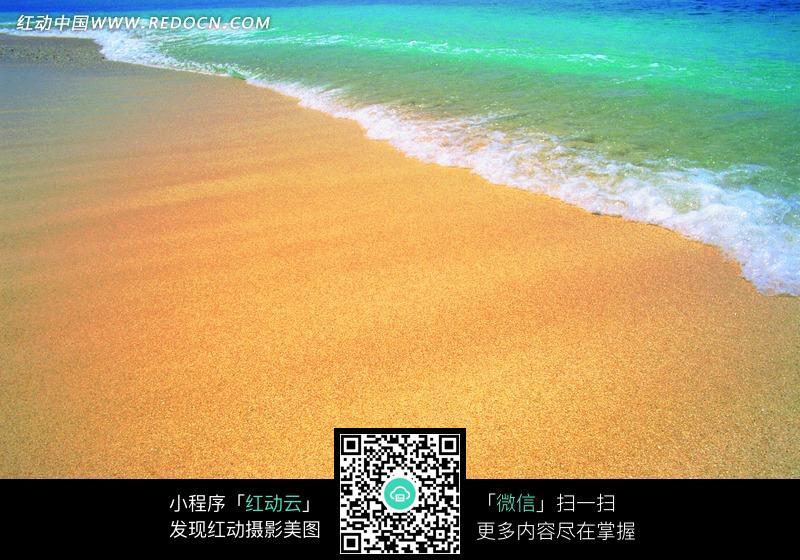 金色沙滩绿色海水设计图片; 风景图片;; 【jpg】海景素材