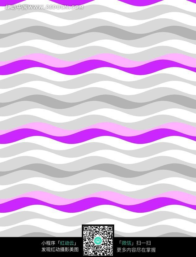 手绘波浪线条填充纹理