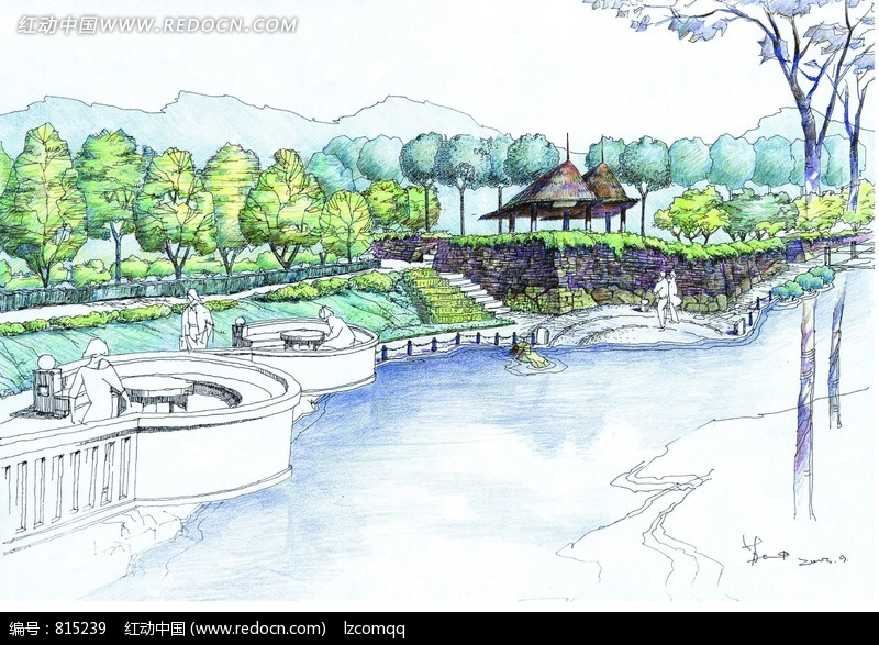 沿河景观设计