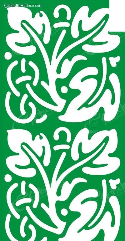 绿色叶子图案镂空花纹图片