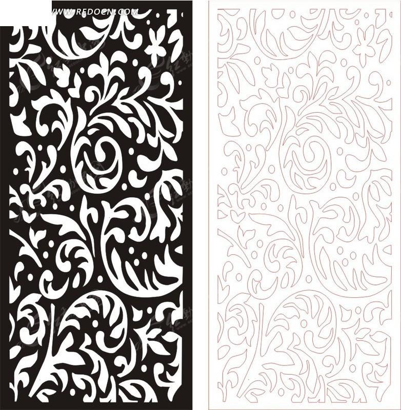 黑色欧式图案镂空花纹图片