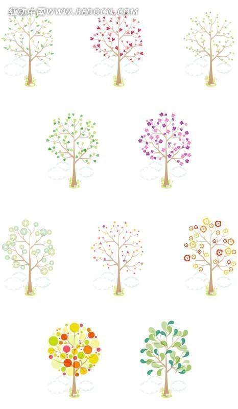 网页图标 卡通植物图标 小树 树木 树叶 卡通 植物 图标素材 网页小