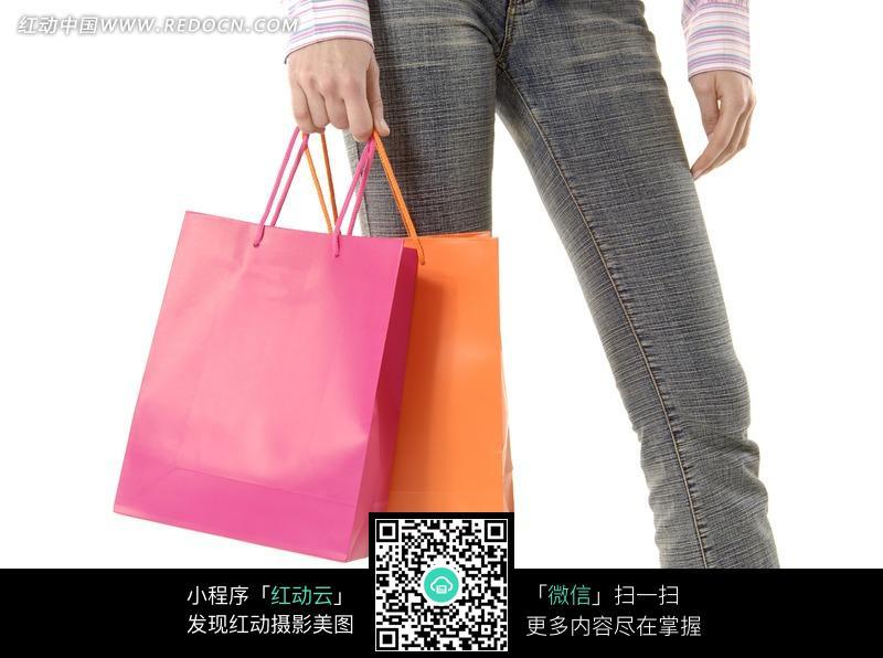 购物袋 特写/提着购物袋特写图片