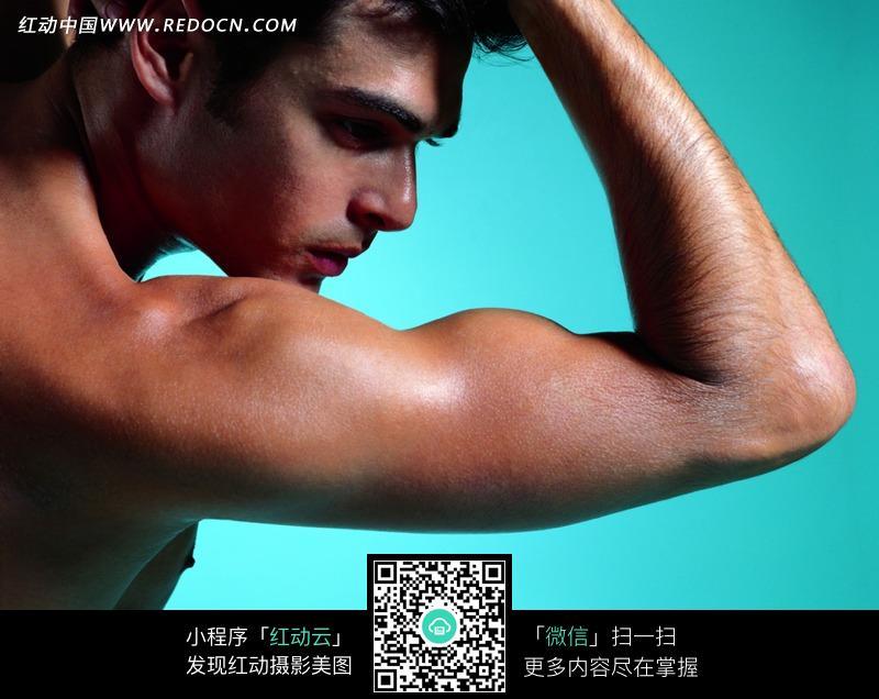 男人侧面手臂肌肉特写jpg图片图片
