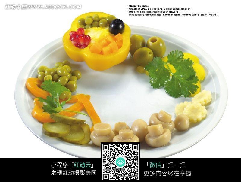 艺术蔬菜拼盘图片 水果蔬菜 图片