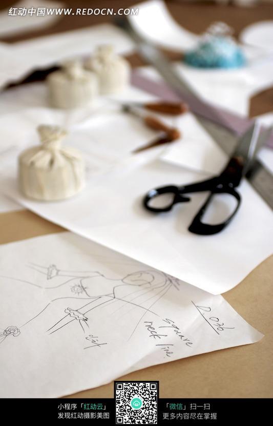 动漫婚纱设计手稿图_动漫婚纱设计手稿图画法