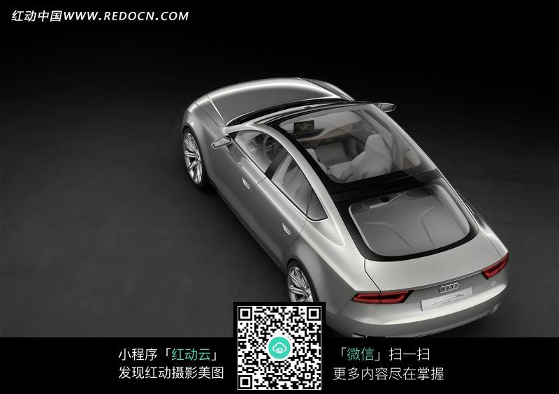 奥迪A8L汽车俯视图 交通工具图片
