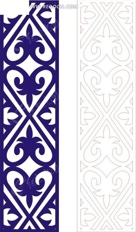 宝蓝色欧式图案镂空花纹图片