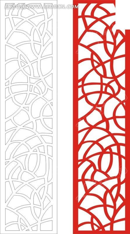 红色欧式图案镂空花纹图片