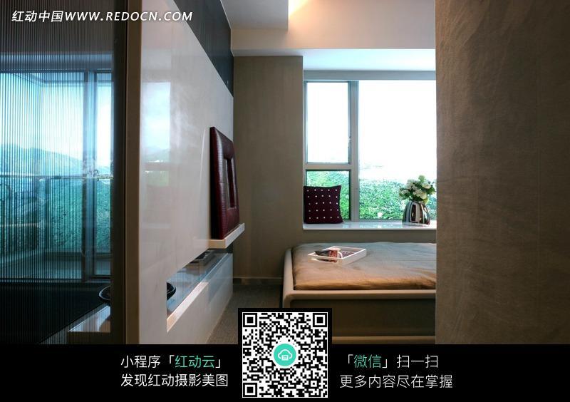 免费素材 图片素材 环境居住 室内设计 简洁现代透空隔墙设计效果图