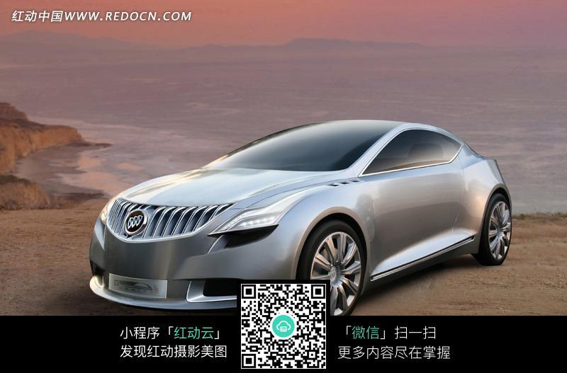 免费素材 图片素材 现代科技 交通工具 银灰色的单开门的别克汽车正面