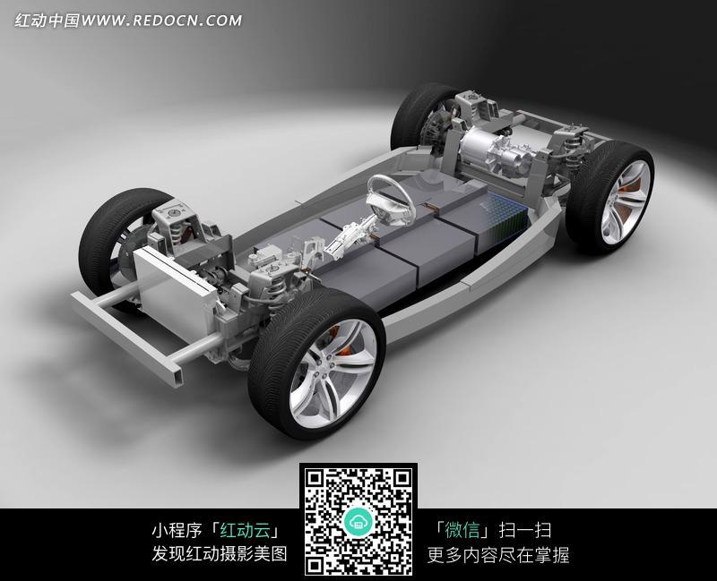 道奇ZEO概念车底盘骨架高清图片