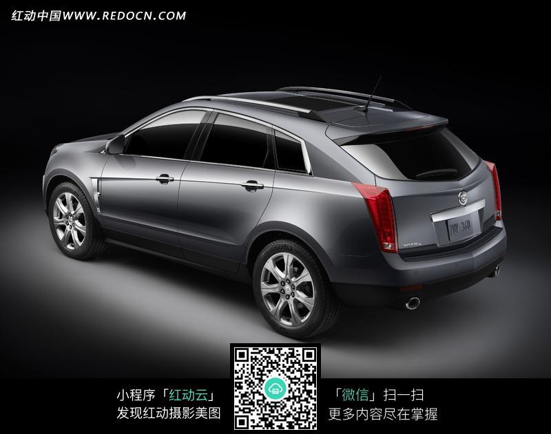 金属灰凯迪拉克srx汽车车尾图片高清图片