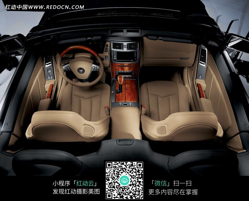 凯迪拉克SRX汽车驾驶座俯视图图片高清图片