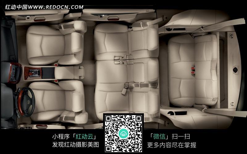 凯迪拉克汽车车厢座椅俯视图图片高清图片