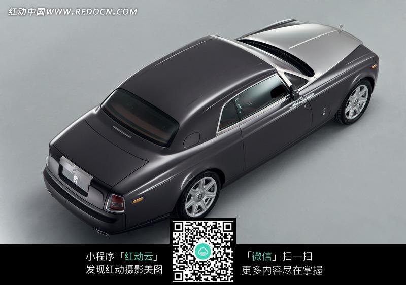 金属灰劳斯莱斯汽车俯视图图片高清图片