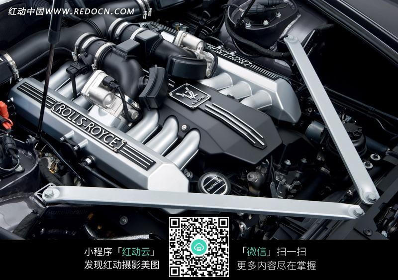 劳斯莱斯汽车发动机图片高清图片