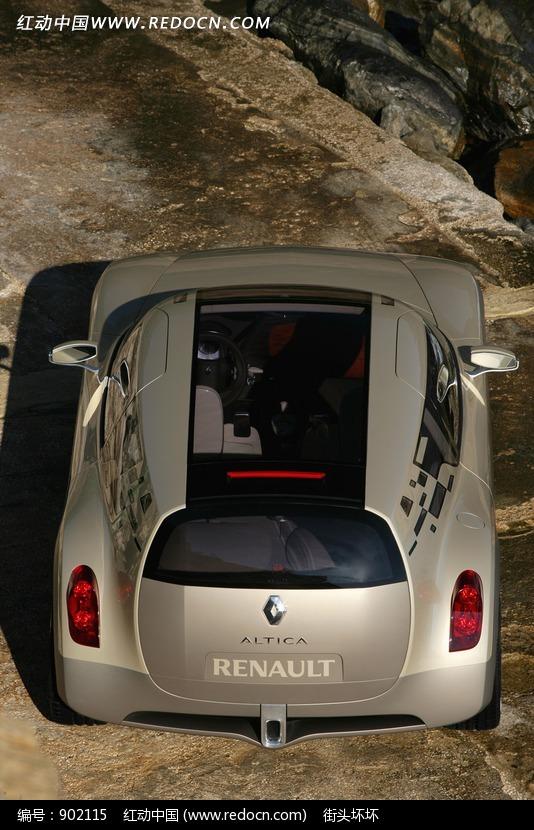 雷诺概念汽车顶视图图片高清图片