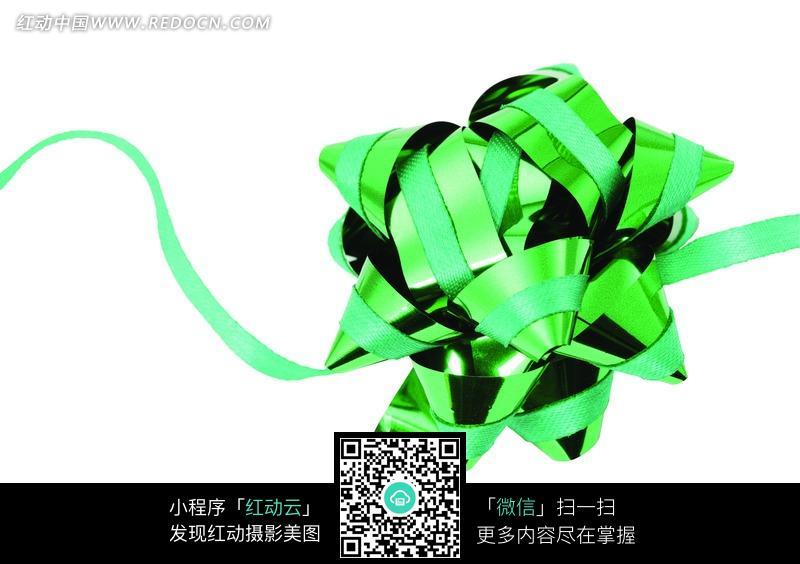 亮绿 亮面 双材质 包装 彩带花 花朵 包装用品 礼品包装 摄影作品