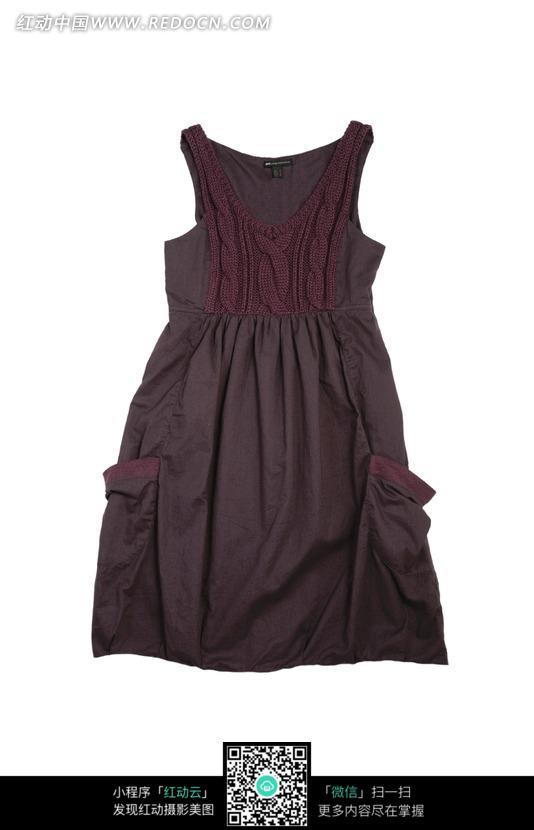 紫色的裙子