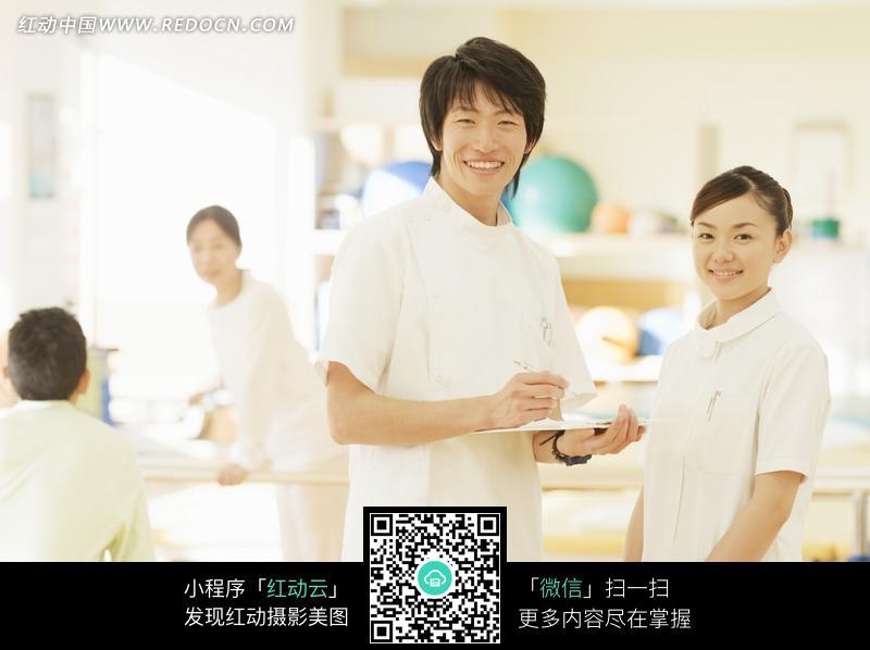 做记录的医生和护士图片